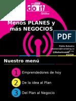 050 Menos Planes y Mas Negocios