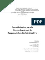 Procedimientos Para La Determinación de La Responsabilidad Administrativa