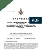 Propuesta No. 4 Definicion de Las Funciones, Deberes y Obligaciones de Dignidades de Logias Simbolicas