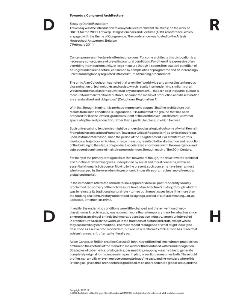 Contemporary Modern Architecture Alan Colquhoun And Design Ideas