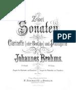 Brahms Sonatas Op.120 No.1-2 Score Parts Complete