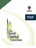 VI Encuesta Nacional de Juventud Principales Resultados 2009