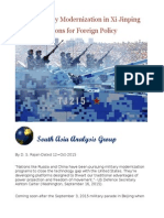 China Military Modernization in Xi Jinping Era- Implications for Foreign Policy