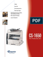 CS 1650 Print Specifications