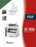 CS 1650 Print Specifications