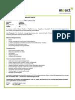 Mpact Vacancy Technical Controller