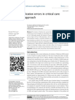 Reducing Medication Errors in Critical Care