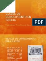 Clases de Conocimiento en Grecia