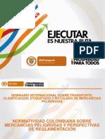 Normatividad Colombiana Transporte de Mercancias Peligrosas SITMP-19!05!2014