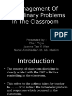 Management of disciplinary problems in the classroom.ppt