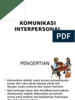Komunikasi Interpersonal ,Blok 1