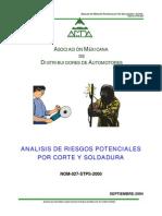 Analisis de Riesgos Por Corte y Soldadura Nom-027-Stps-2000