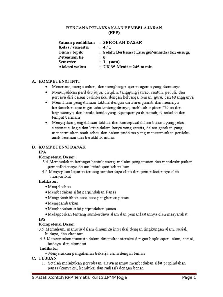 Tugas Rpp Astati Kelas 4 Tema 2 Sub Tema 2 Pbm 6 Red Top Htl