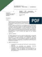 Syllabus Desarrollo, Planif y MA