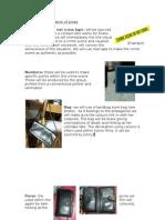 Online DoOrganisation of Props Crime Scene