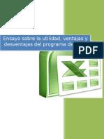 Ensayo Sobre La Utilidad Ventajas y Desventajas Del Programa de Excel