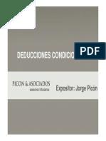 DEDCUCCIONES CONDICIONADAS