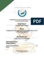 Comparación Con El Proyecto Modificación Código Penal Dominicano