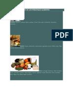 Elementos Químicos de Los Principales Alimentos