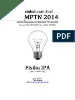 Pembahasan Soal SBMPTN 2014 Fisika IPA Kode 512 (Sample Version - Unfinished)