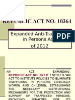 Anti-Trafficking in Persons Act Powerpoint Presentation
