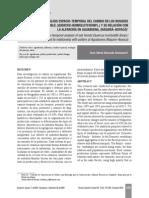 Análisis Espacio-temporal Del Cambio en Los Bosques de Roble