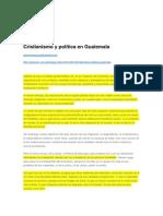 Cristianismo y Política en Guatemala