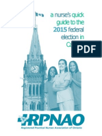 A Nurse's Quick Guide to the 2015 Federal Election in Canada