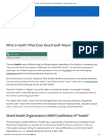 what is health  what does good health mean  - medical news today