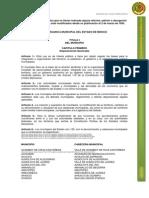 Ley Organica Municipal Del Estado de Mexico
