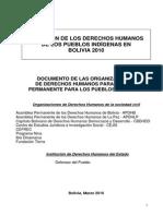 SITUACIÓN DE LOS DERECHOS HUMANOS DE LOS PUEBLOS INDÍGENAS EN BOLIVIA