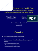 Operations Research in Health Care