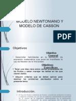Modelo de Newton y de Casson Scrib