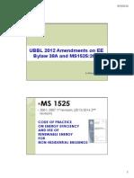 UBBL 2012 Amendments on EE and MS1525 - Ir Ahmad Izdihar (1)