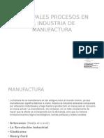 Principales ProcesoPRINCIPALES PROCESOS DE LA INDUSTRIA DE LA MANUFACTURAs de La Industria de La Manufactura
