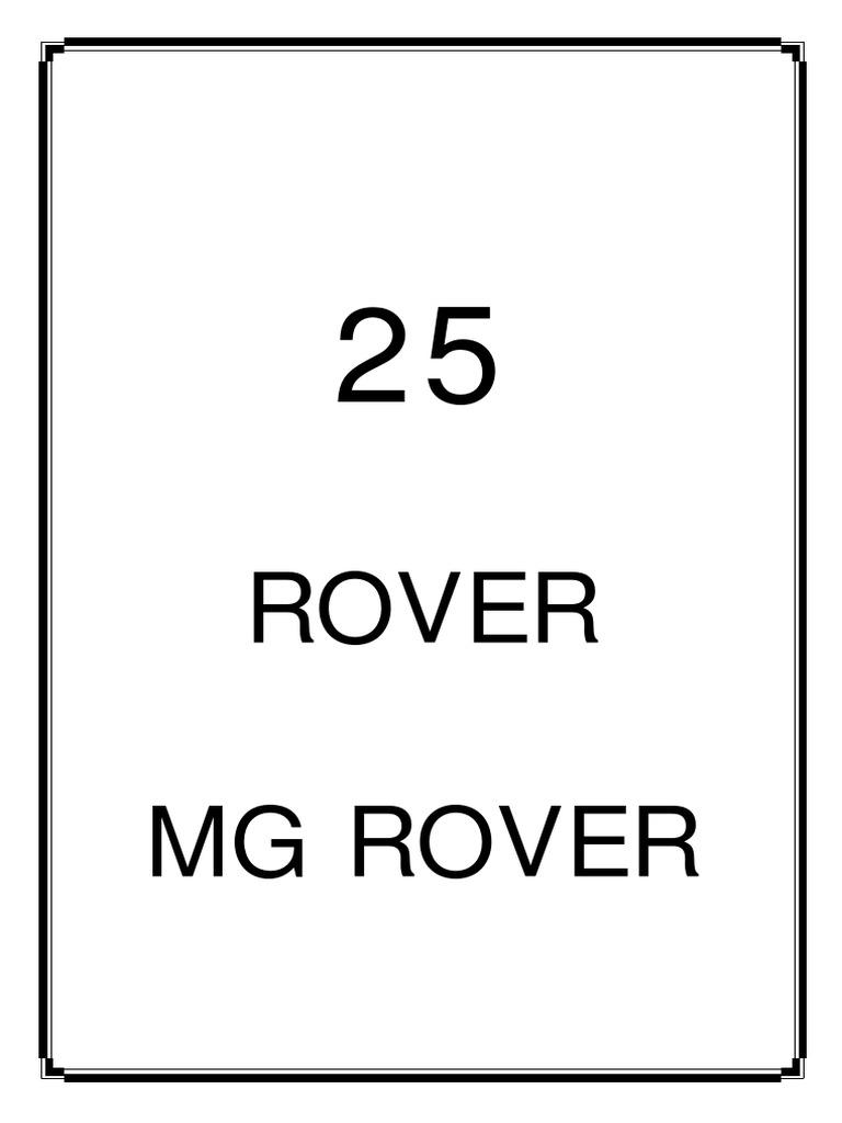 Rover Manual Electrical Engineering Manufactured Goods Hyundai Santro Wiring Diagram Pdf
