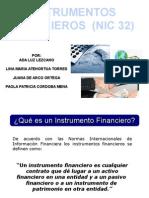 expocision instrumentos financieros ..