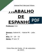 Trabalho de Espanhol - LIMA