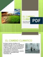 Cambio Climatico Global y Sus Efectos en La Atmosf.