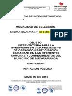 modelo invitacion contracaion publica minima cuantia