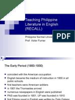 7 teaching philippine literature in english