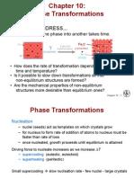Diagramas de transformación isotérmica y enfriamiento continuo.