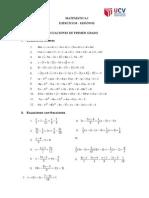 Ejercicios 1_Ecuaciones e Inecuaciones de Primer Grado