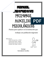 Manual Instructivo Sobre Primeros Auxilios Psicológicos