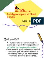 Escala Wechesler de Inteligencia Para El Nivel Escolar[1]