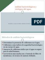 Métodos de Análisis Bacteriológicos y Calidad Bacteriológica Del