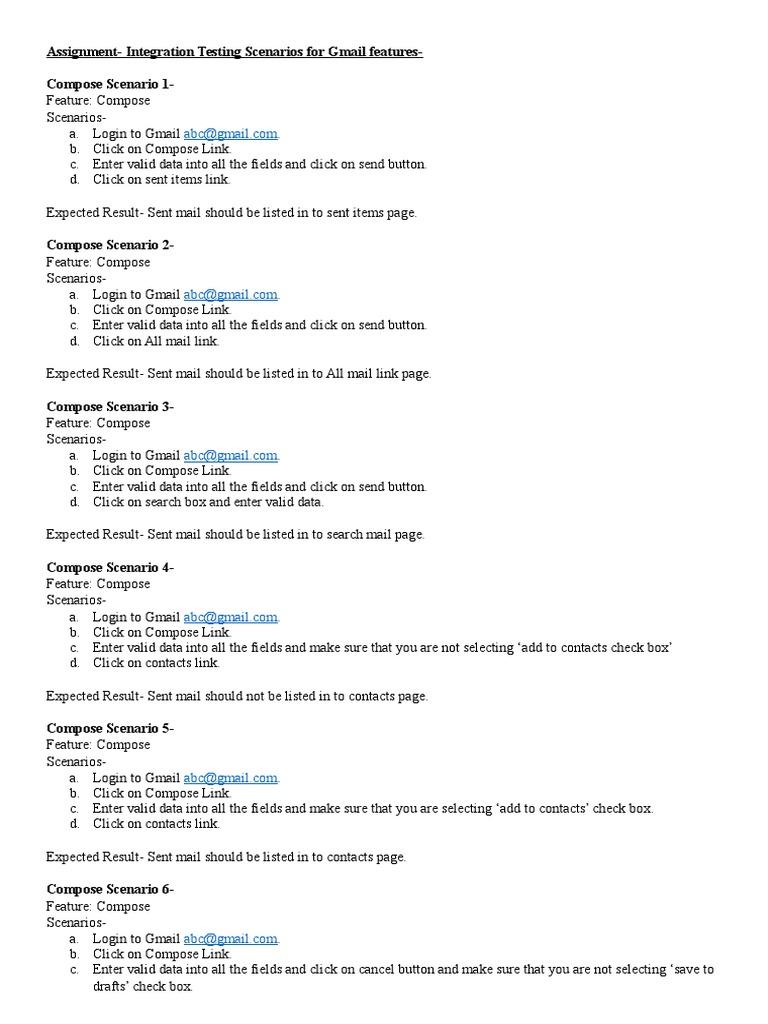 Compose Scenario 1 | Gmail | Email