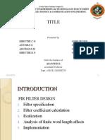 Fir Filter Ppt