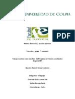 Análisis Costo Beneficio Del Programa de Pensión Para Adultos Mayores 65