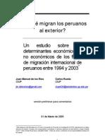 ¿Por qué migran los Peruanos al exterior?